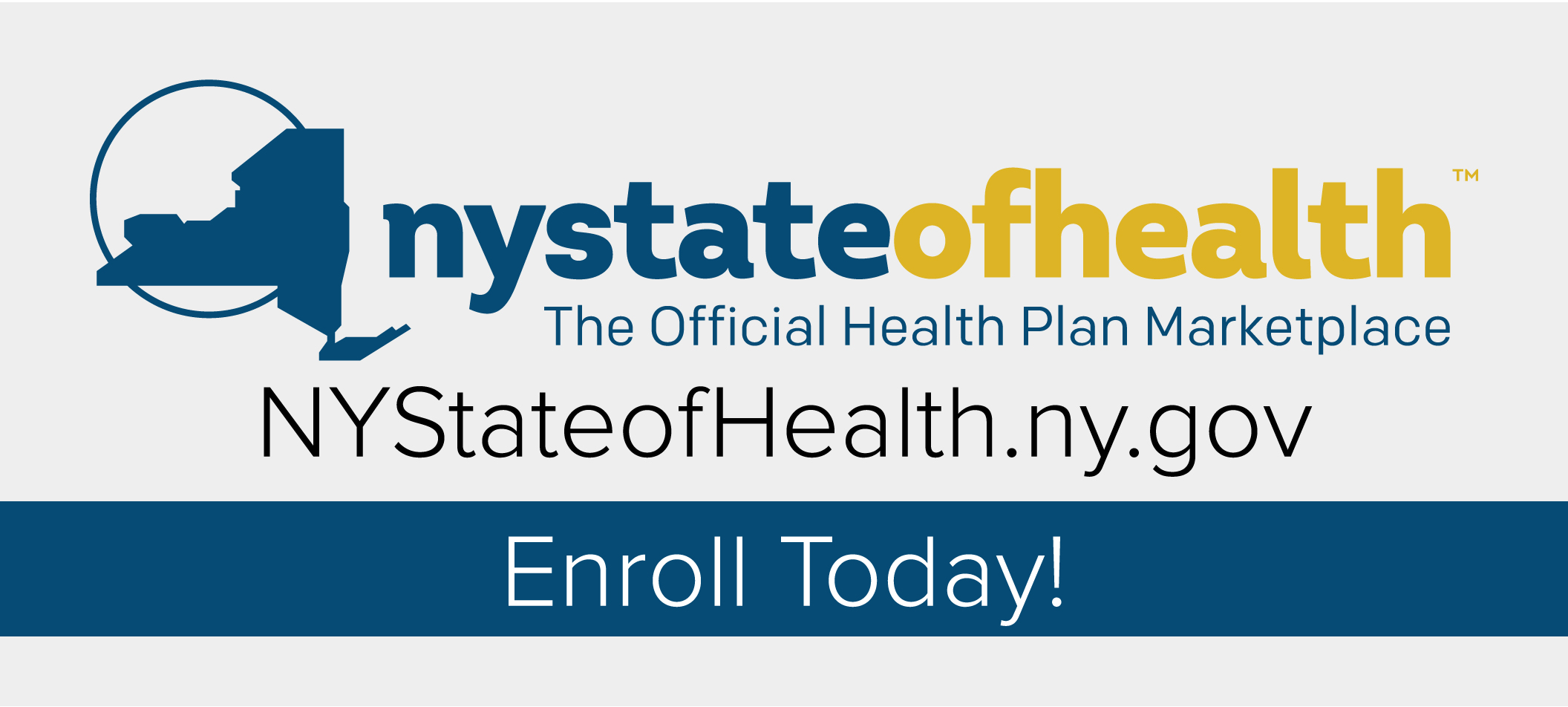 NYS health plan  marketplace button